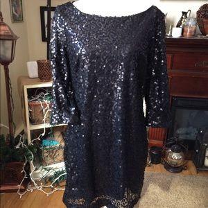 NWT Jessica Howard Black Sequin Mini Dress